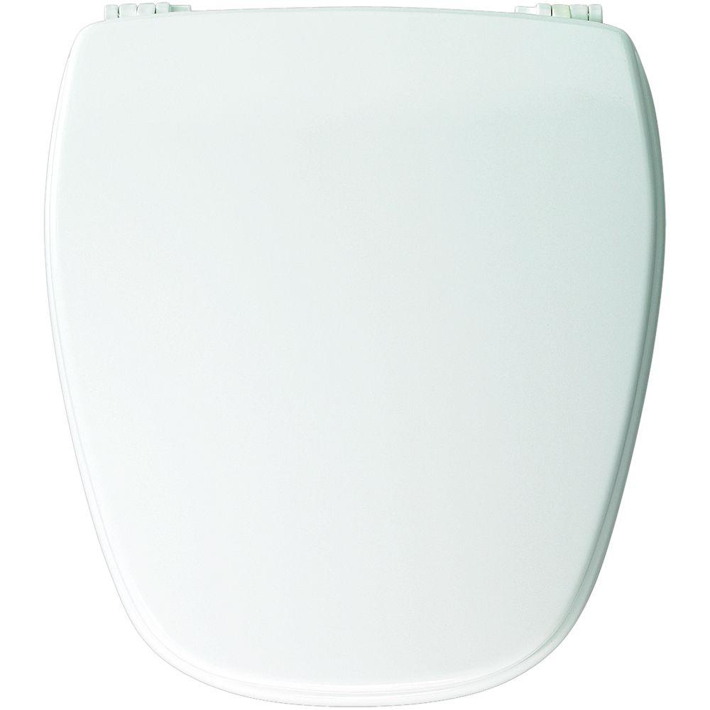 Church Bemis NW209E10 Round Closed Front Toilet Seat With Plastic Hinges EBay