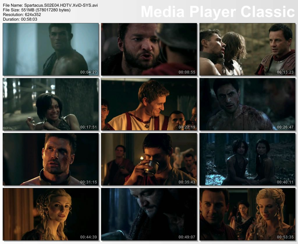 Spartacus 2. Sezon 4. Bölüm DVBRip XviD Türkçe Altyazılı Tek Link indir