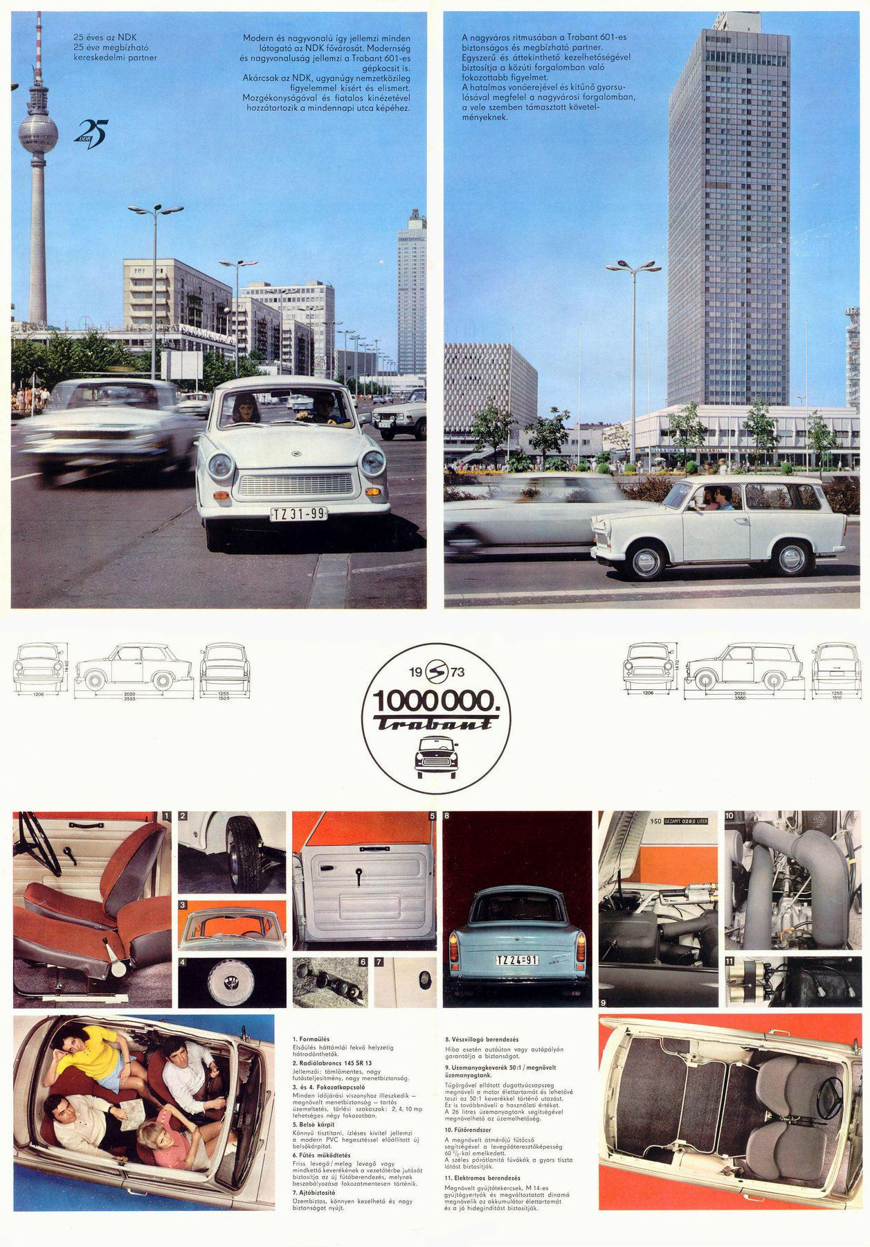 Power Cars Trabant 601 S Papyrus White With Blue Top