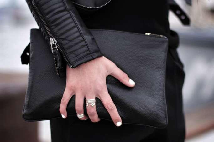 Padded Leather Jacket H&m