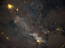 Downlinked from the International Space<br /> Station, this image shows the wild fires<br /> in the Southwest United States in early<br /> June 2012.(NASA) <br /> <a href='http://www.nasa.gov/images/content/715971main_Image2a_XL.jpg' class='bbc_url' title='External link' rel='nofollow external'>View large image</a>